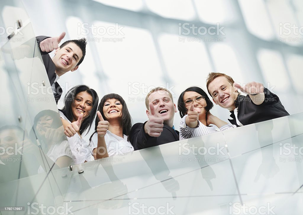 Group of business people at working place royalty-free stock photo
