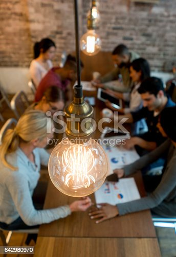 istock Group of business people brainstorming at the office 642980970