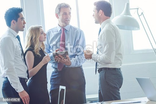 689967238 istock photo Group of business people brainstorming. 546445828
