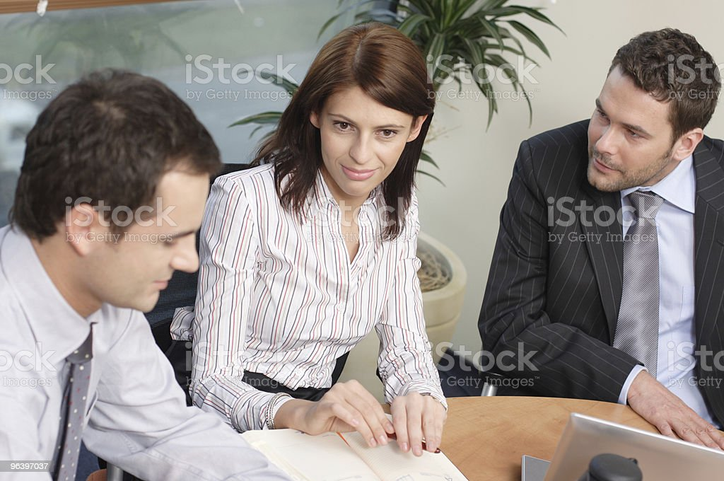 group of business people chat in the office - Royalty-free Adult Stock Photo