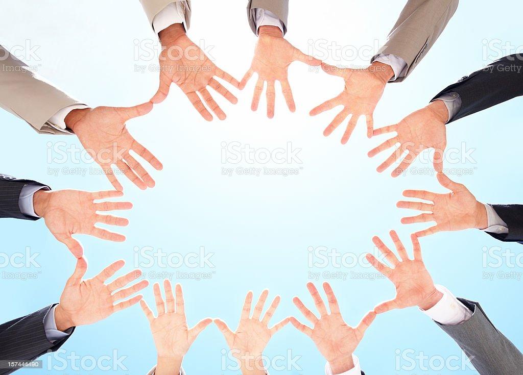Gruppe von Geschäftsleuten mit dem Finger Lizenzfreies stock-foto