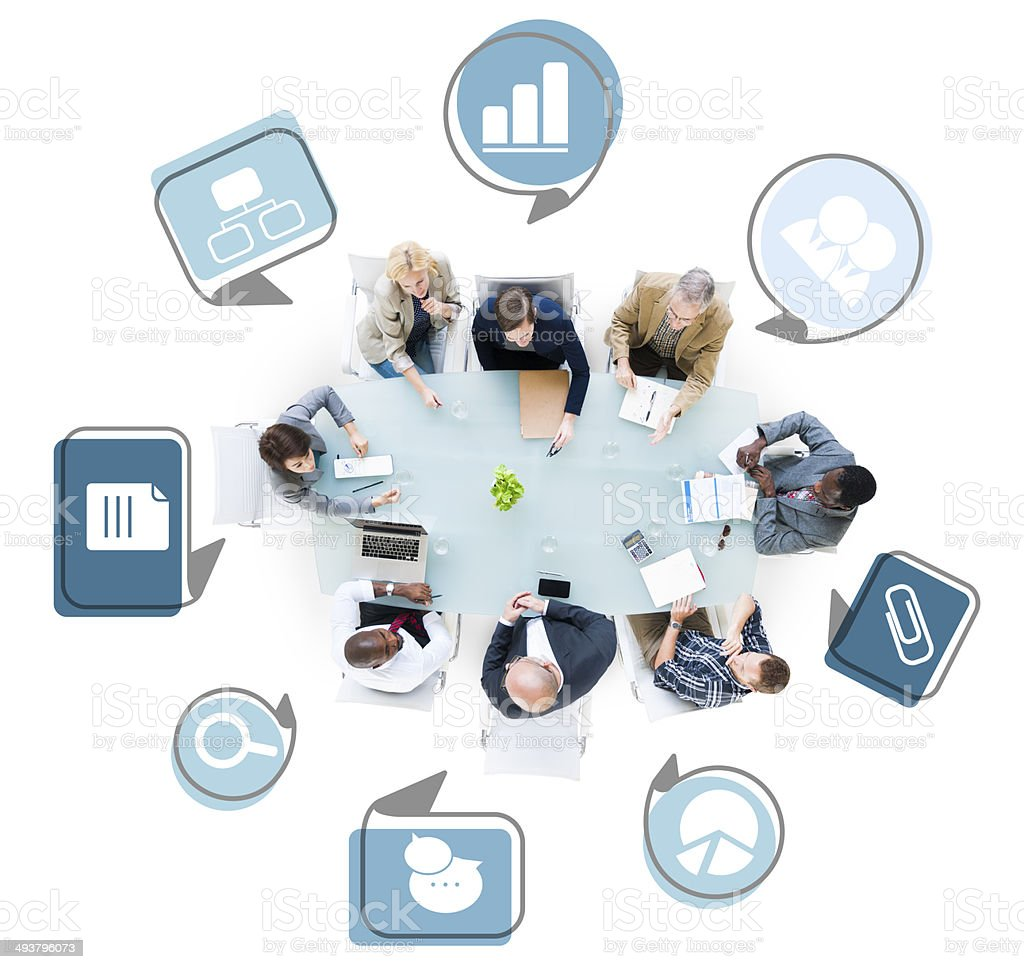 Group of Business People Discussing Business Issues stock photo