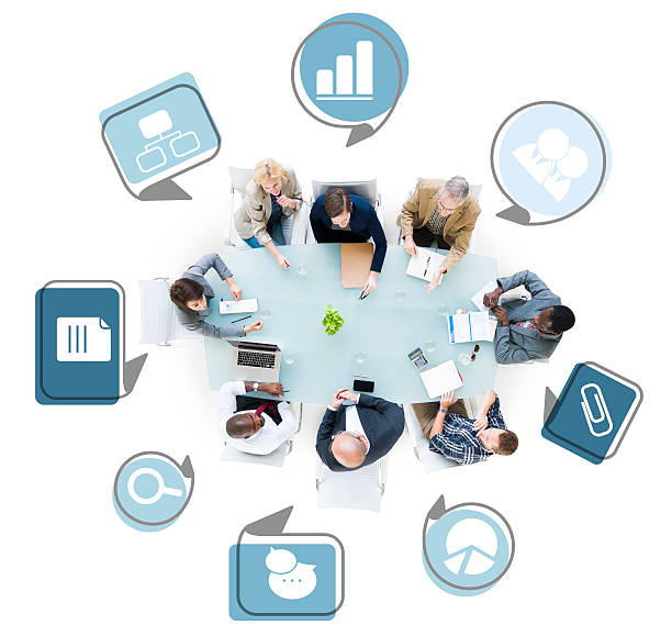 Group of Business People Discussing Business Issues Group of Business People Discussing Business Issues governing board stock pictures, royalty-free photos & images
