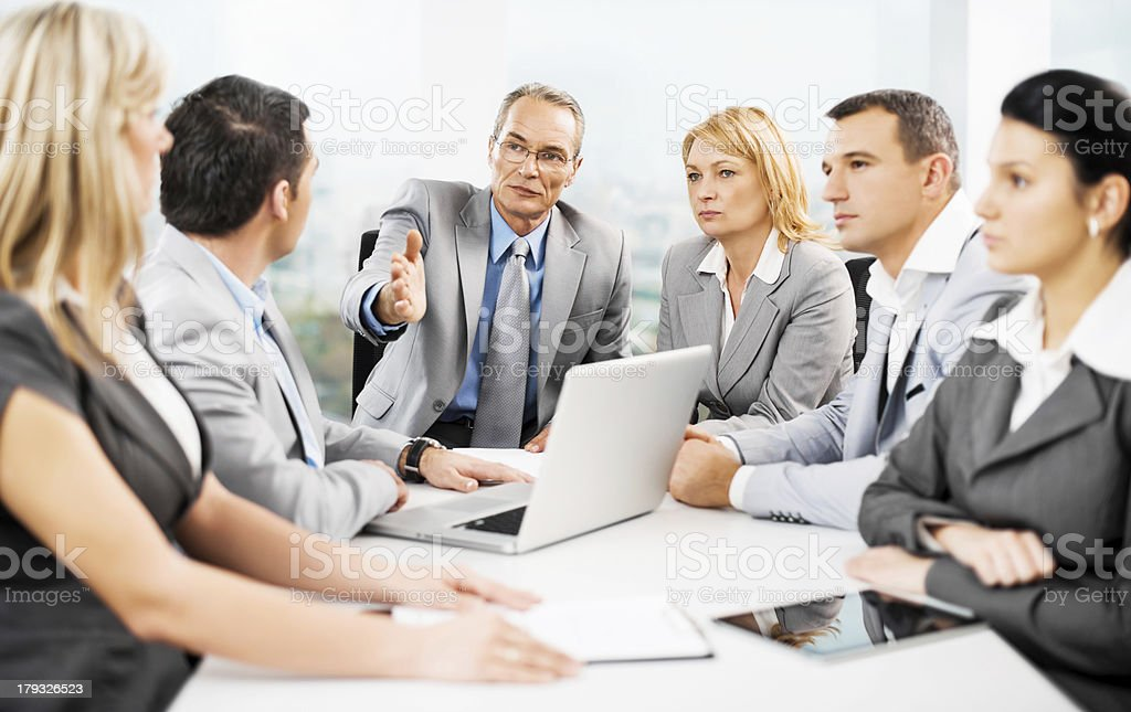 Group of business people having a meeting. royalty-free stock photo