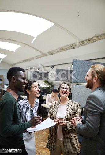istock Group of Business People having Fun 1159672521