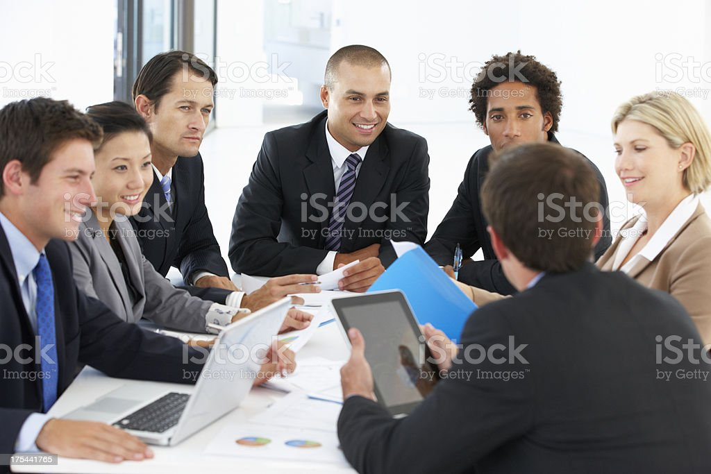 Group Of Business People Having Meeting In Office royalty-free stock photo