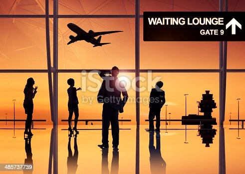 istock Group of Business People in the Airport 485737739