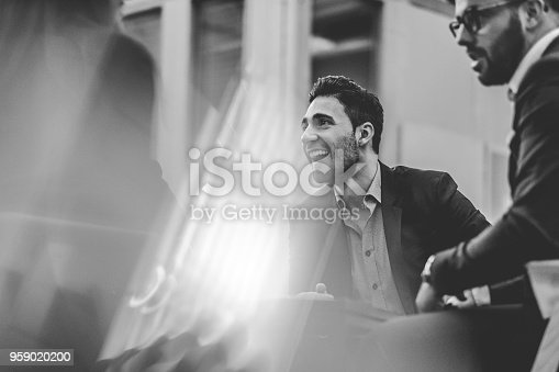 istock Group of business people in the office meeting 959020200