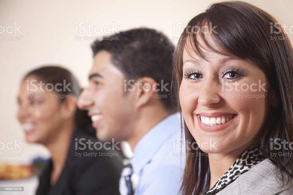 Group of business people Listening to a Speech, presentation. royalty-free stock photo