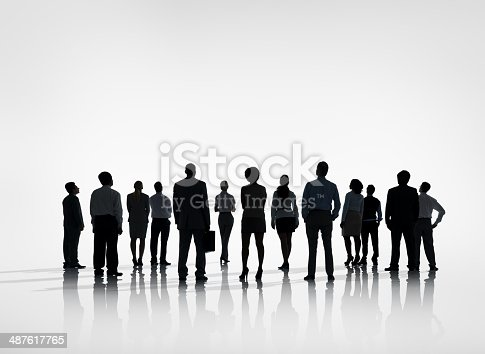 istock Group of Business people look forward 487617765