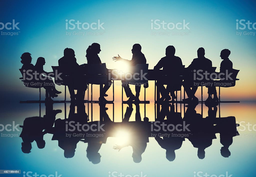 Group of Business People Meeting Brainstorming Concept stock photo