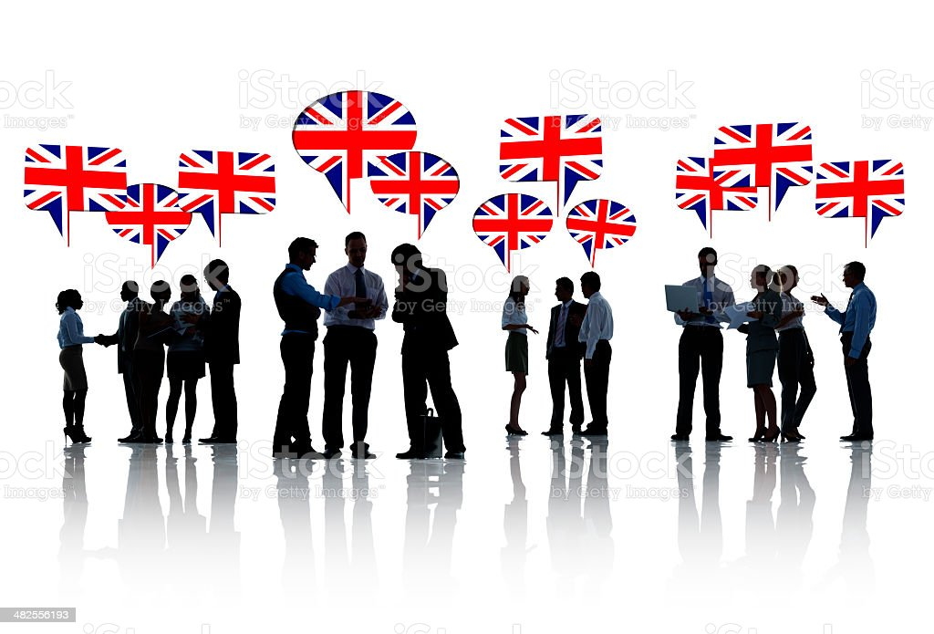 Group Of Business People Meeting In United Kingdom stock photo