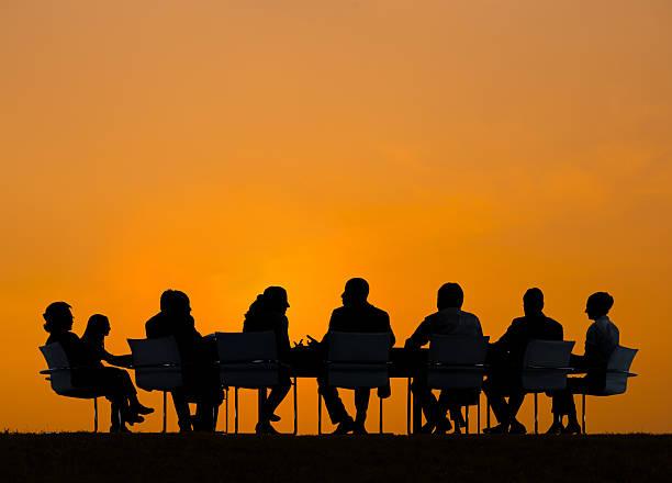 Grupo de personas de negocios de reuniones - foto de stock