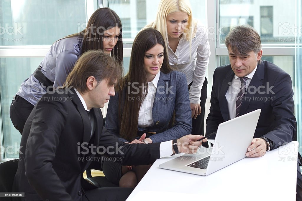 Group of business people royalty-free stock photo