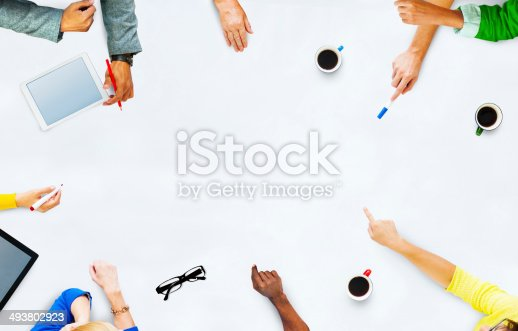 istock Group of Business People Planning for a New Project 493802923