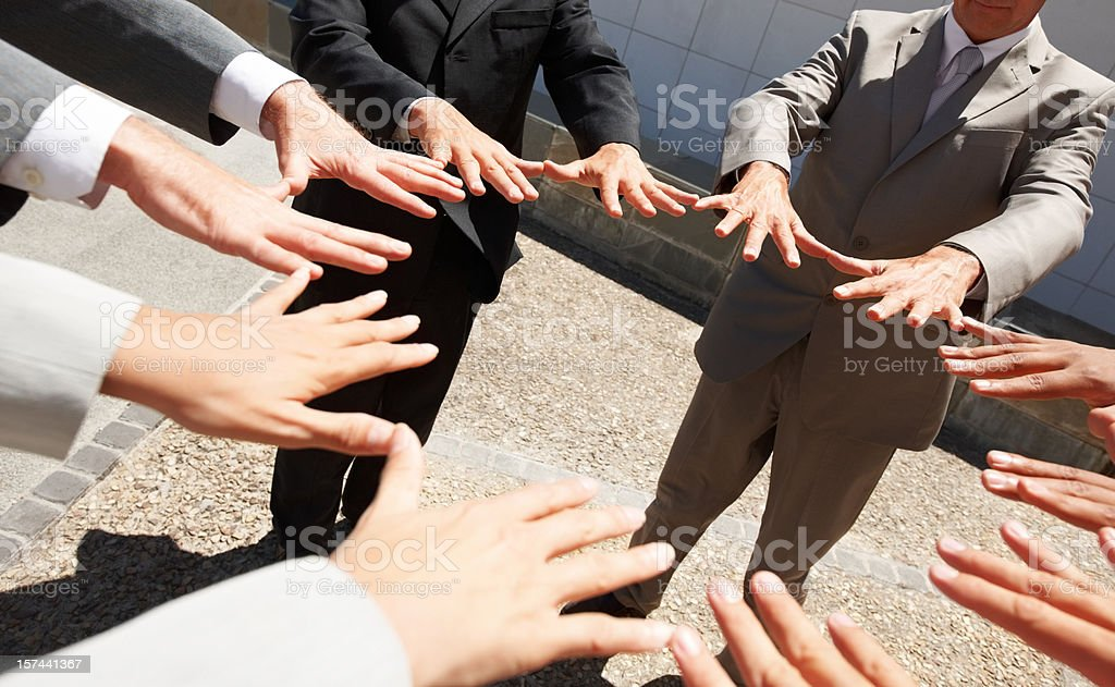 Group of business people promising royalty-free stock photo