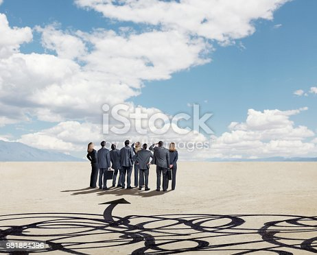 istock Group Of Business People Seeking Clarity 981884396