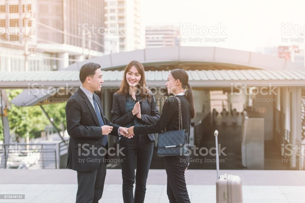 Group of Business people shaking hands,Teamwork finishing up a meeting partners greeting each other after signing contract and go Seminar. royalty-free stock photo