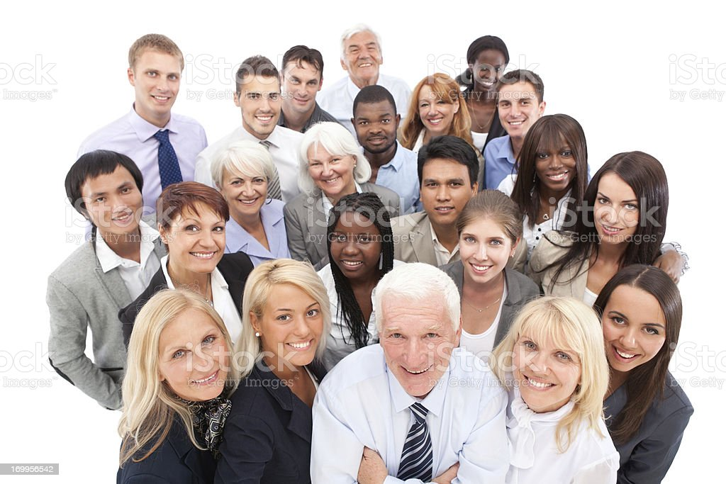 Group of business people standing together. royalty-free stock photo
