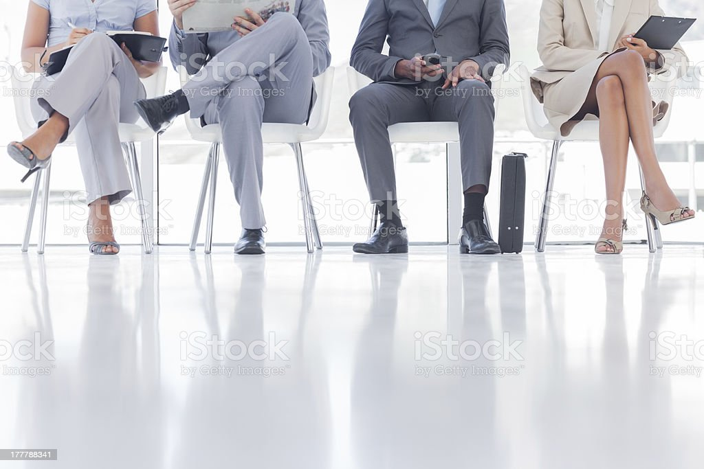 Group of business people waiting stock photo
