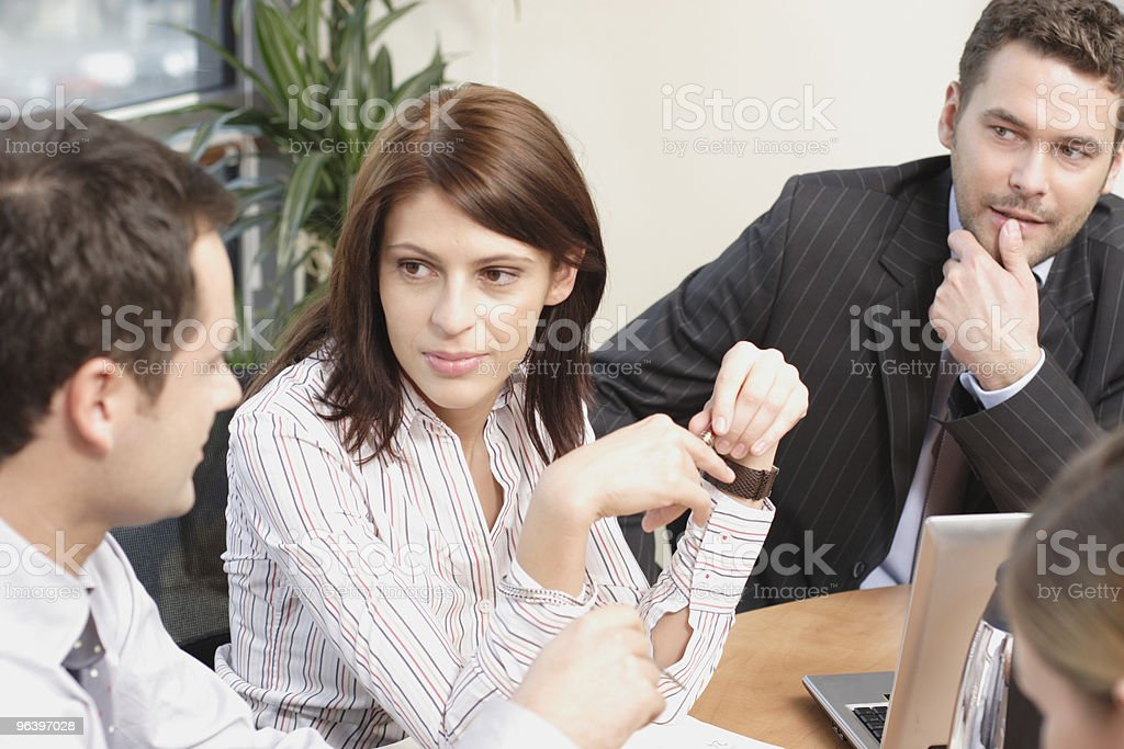 Group of business people working  on project - Royalty-free Adult Stock Photo