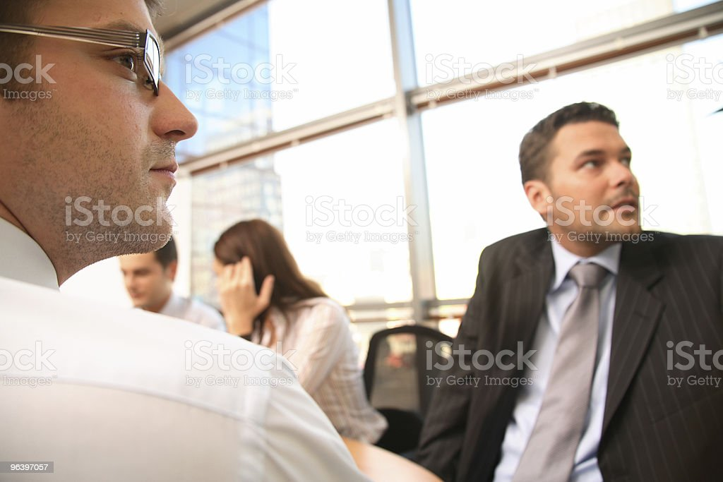 Group of business people working  on project royalty-free stock photo