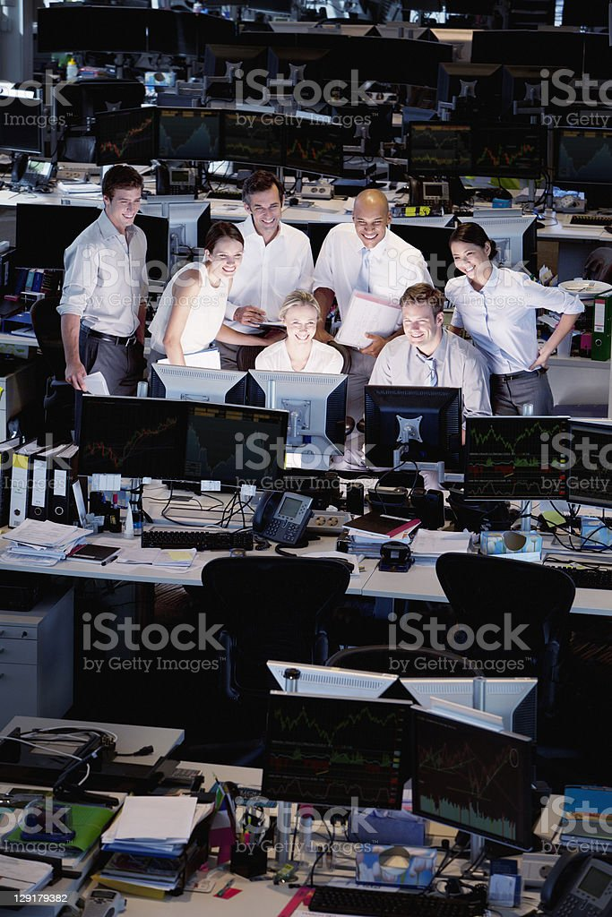 Group of business people working stock photo