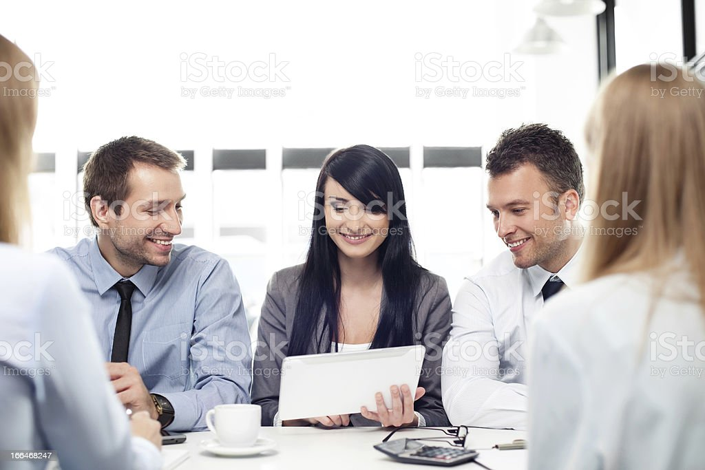 Group of business people working royalty-free stock photo
