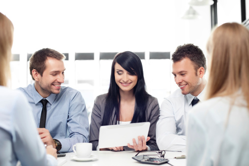 istock Group of business people working 166468247