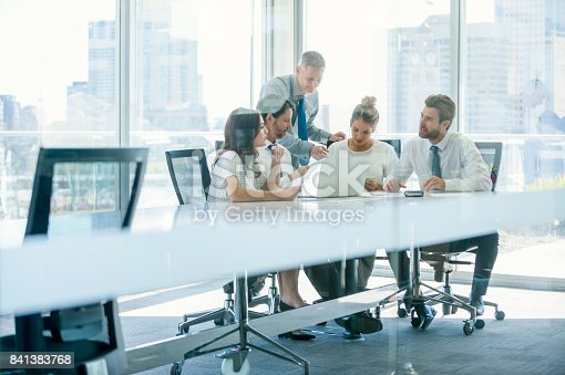 istock Group of business people working. 841383768