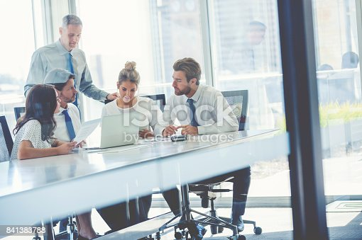 istock Group of business people working. 841383788