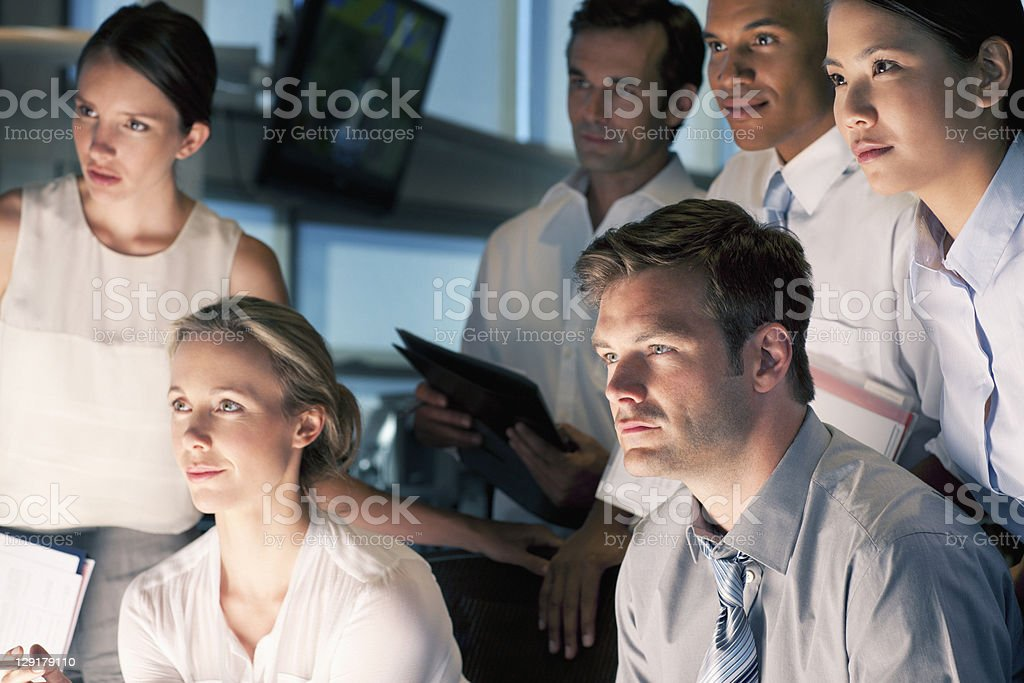 Group of business people working together stock photo