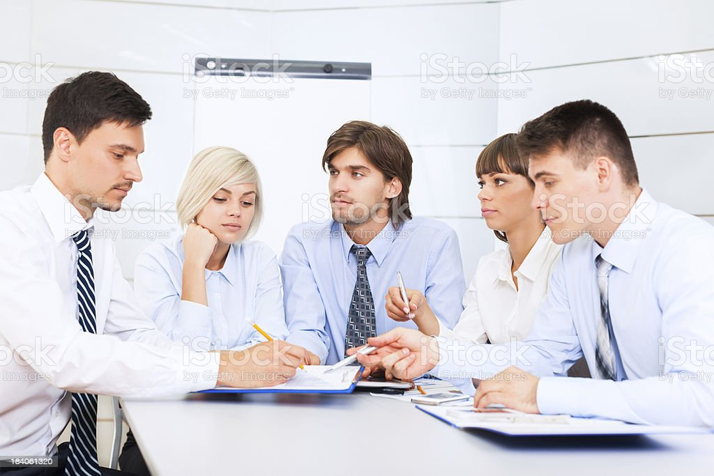 Group of business peoplecolleague working together office royalty-free stock photo