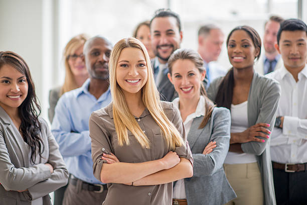 group of business professionals - white collar worker stock photos and pictures