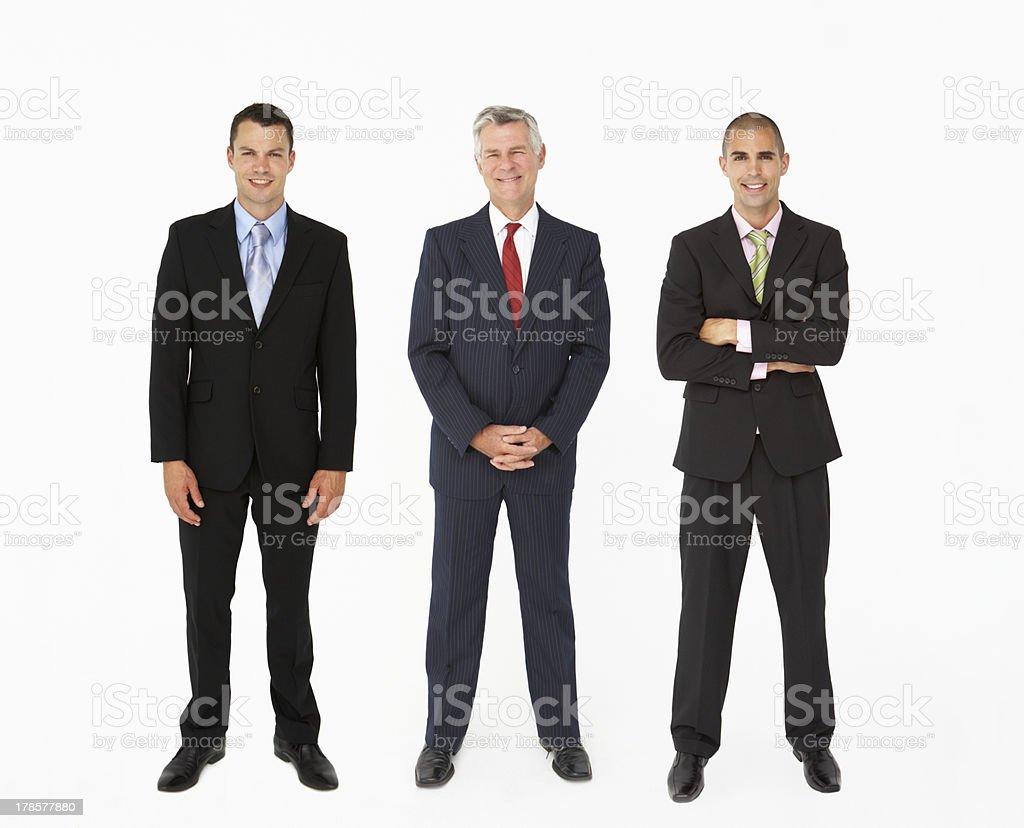 Group Of Businessmen In Studio stock photo