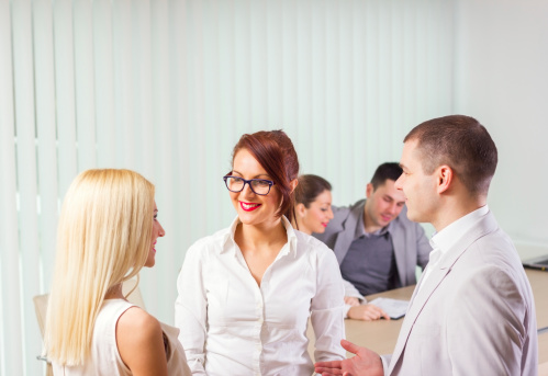 514325215 istock photo Group of businesspeople having a meeting. 172430874