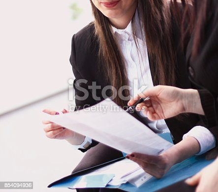 171328775 istock photo Group of businesspeople making business 854094936