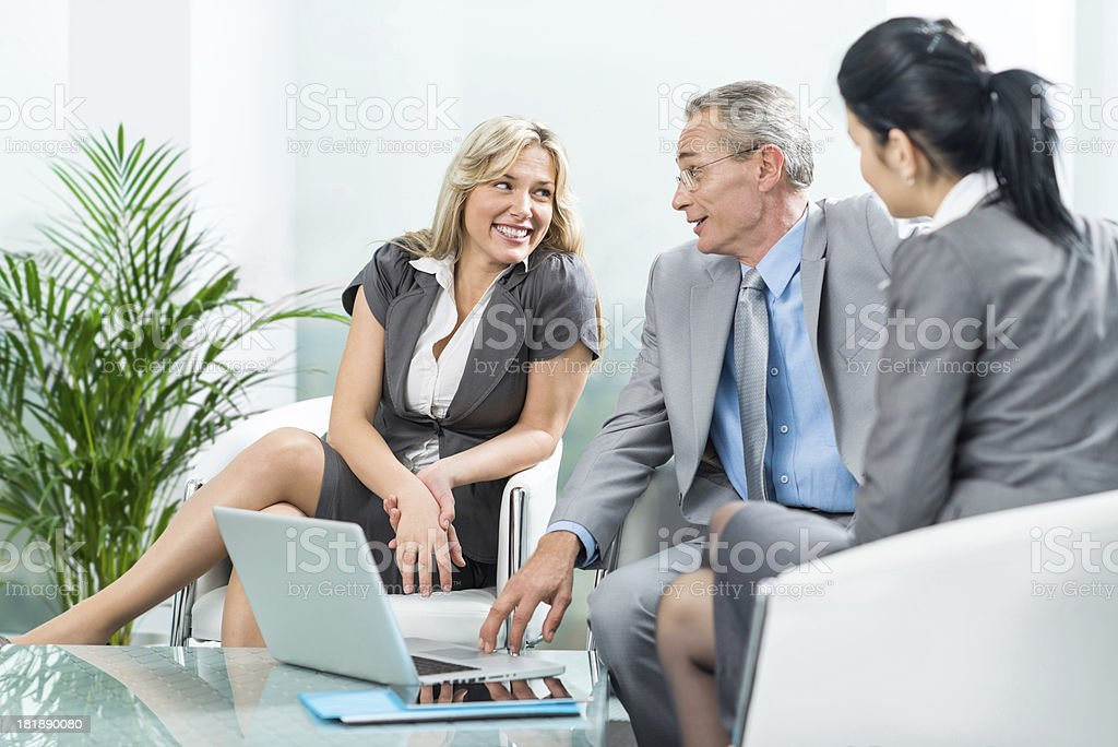 Group of businesspeople on a meeting. royalty-free stock photo