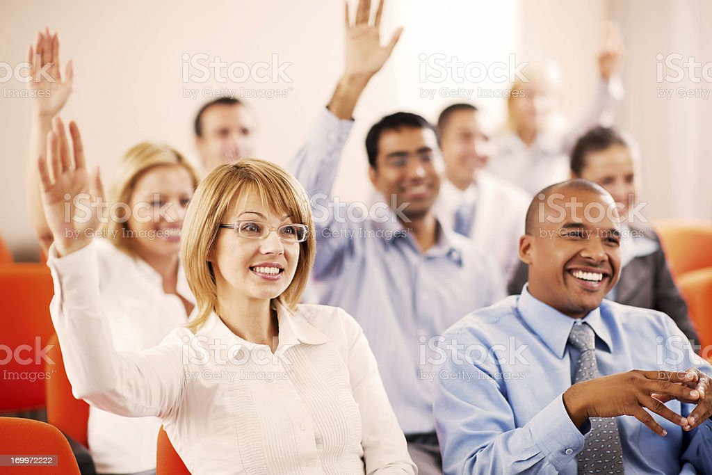 Group of businesspeople on a seminar. royalty-free stock photo