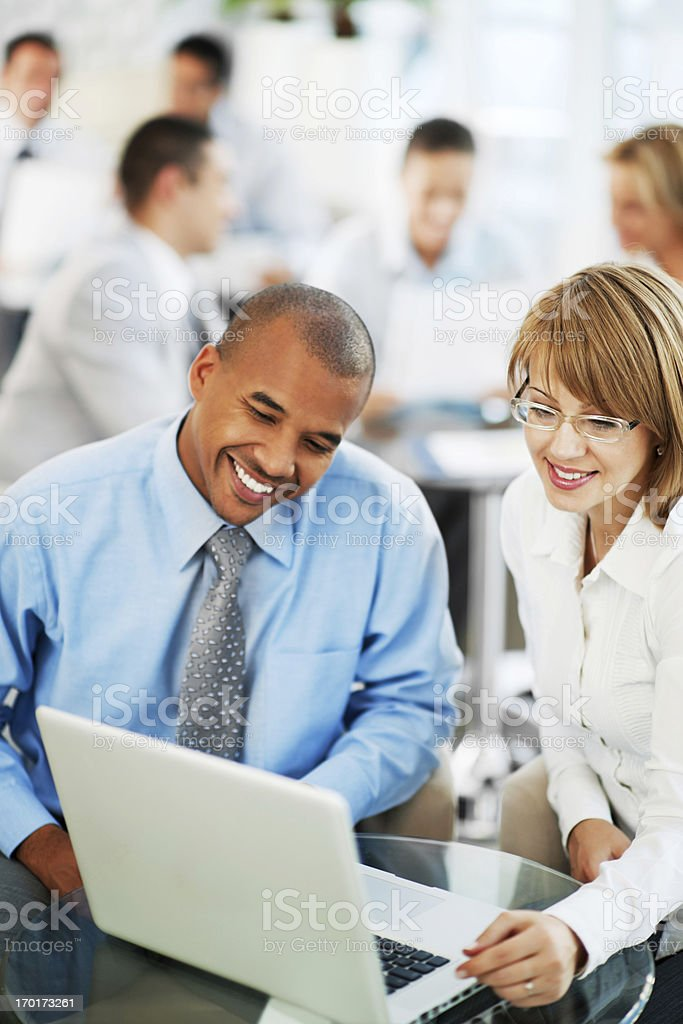 Group of businesspeople sitting and working together. royalty-free stock photo