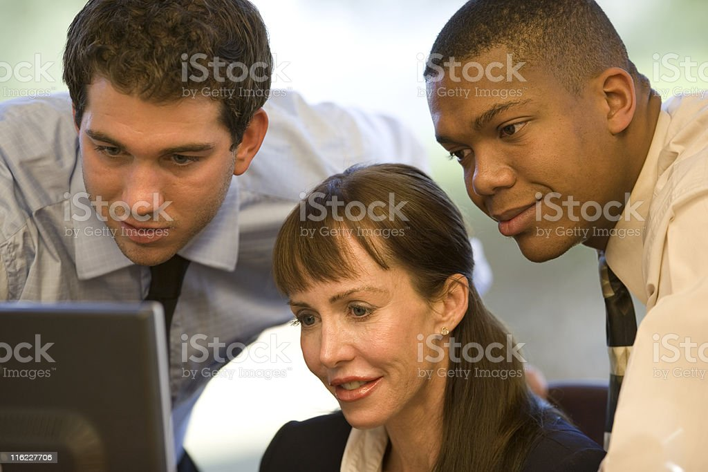 Group Of Businesspeople Working Together royalty-free stock photo