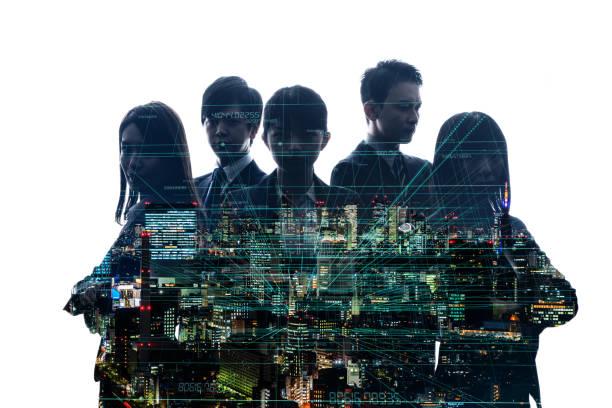 実業家とデジタル技術コンセプトのグループ。 ストックフォト