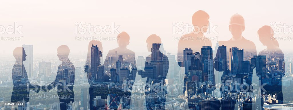 Group of businessperson and engineers. Human resources. - Royalty-free Adult Stock Photo