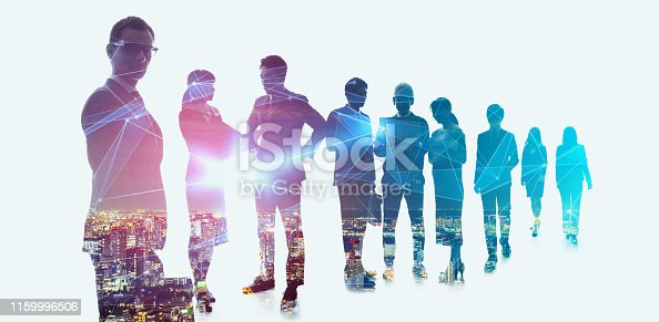 istock Group of businessperson and technology concept. 1159996506