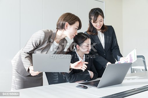 istock Group of businesswoman in the office. 943288664