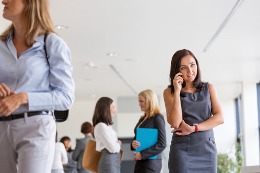 Group Of Businesswomen In The Office Stock Photo - Download Image Now