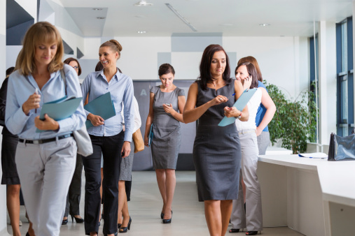 Group Of Businesswomen Walking Stock Photo - Download Image Now