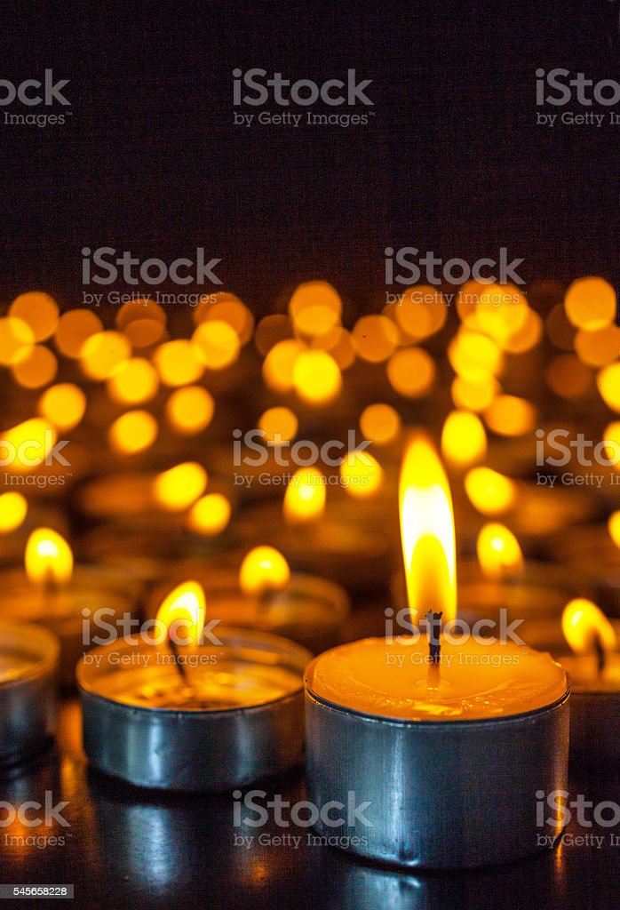 Group of candles stock photo