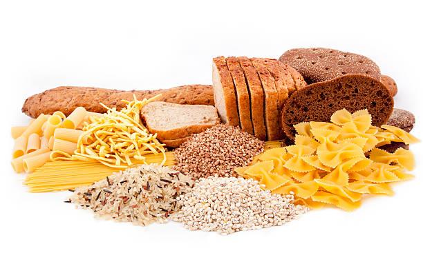 Grupo de carbohidratos productos - foto de stock
