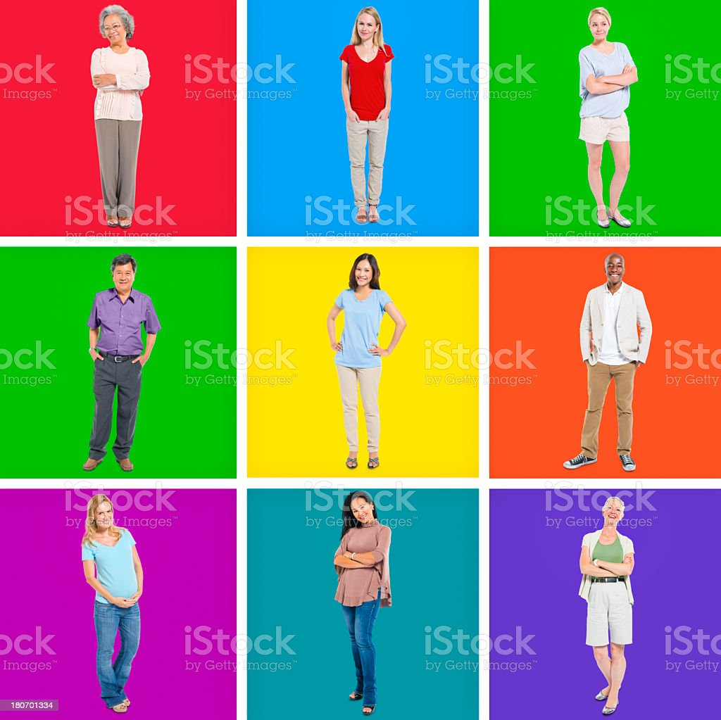 Group of caual people royalty-free stock photo